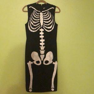 Loft black midi dress